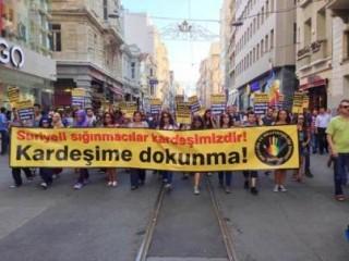 suriyeli-siginmacilara-yonelik-irkcilik-ve-siddet-taksimde-protesto-edildi